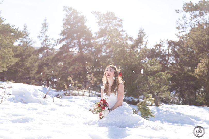 La mariée dans la neige