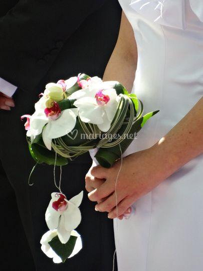 Bouquet mariée orchidées