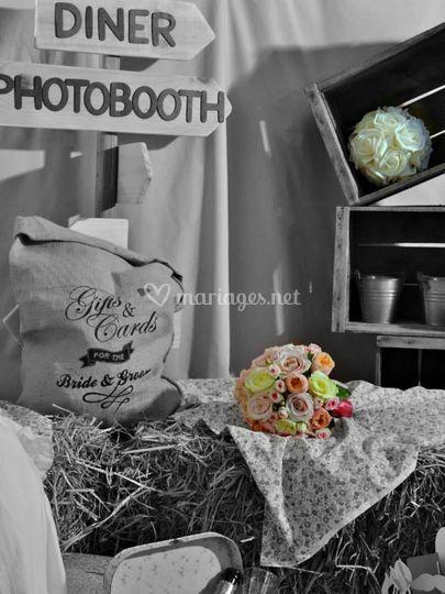Espace photobooth champêtre