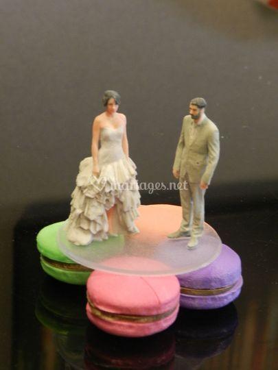 Figurines gâteaux, macarons
