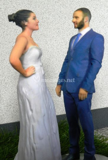 Mariés en pleine conversation