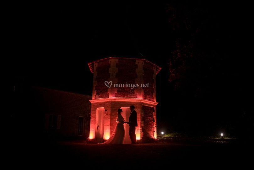 Les mariés au crépuscule