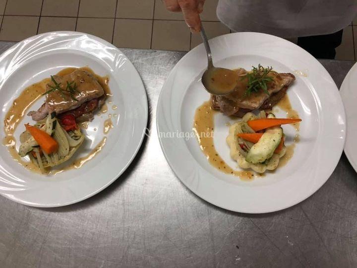 Saltimbocca et pâtissons