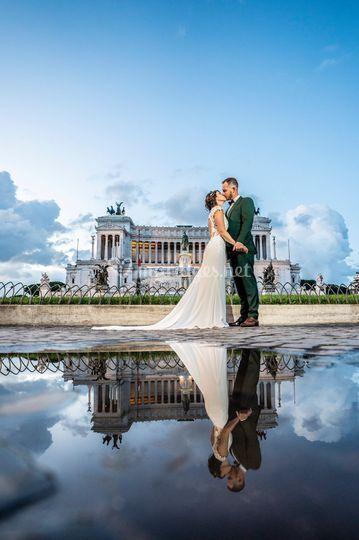 Couple, Rome, Italie