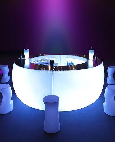 Bar lumineux rond