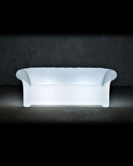 Canapé lumineux