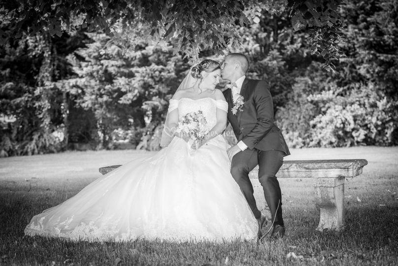 Photos de couple au domaine
