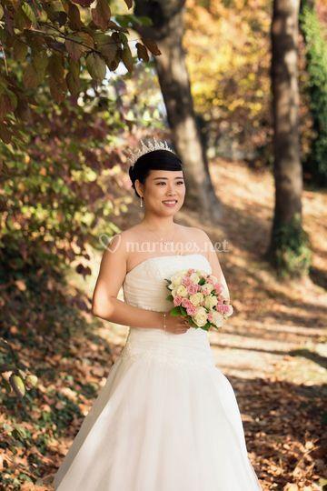 La mariée au bord de la marne