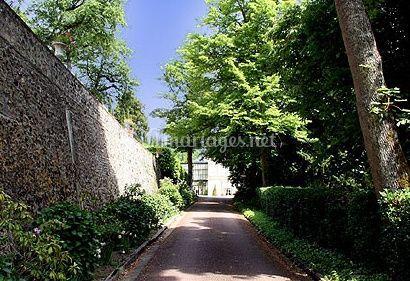 Chemin d'accès au château