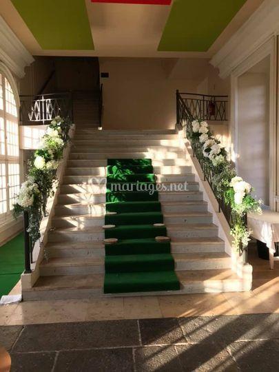 Escalier du château de torigni