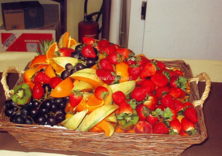 Décoration avec des fruits