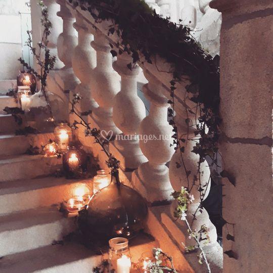 Escalier végétalisé