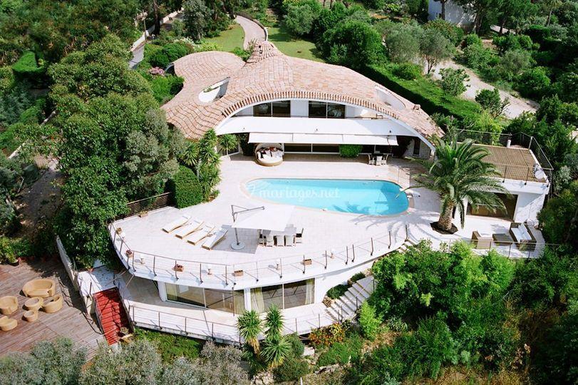 Villa Oxygene vue aérienne
