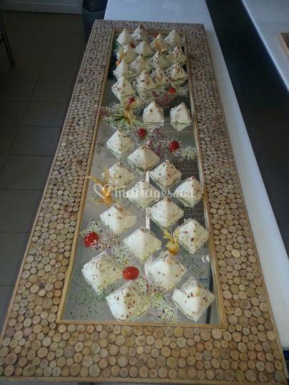 Buffet pyramide de volaille