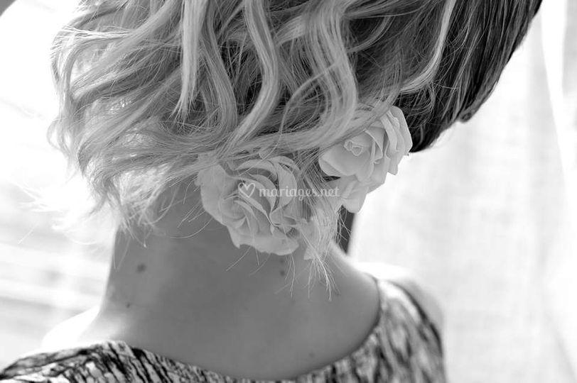 Chignon mariée cheveux court
