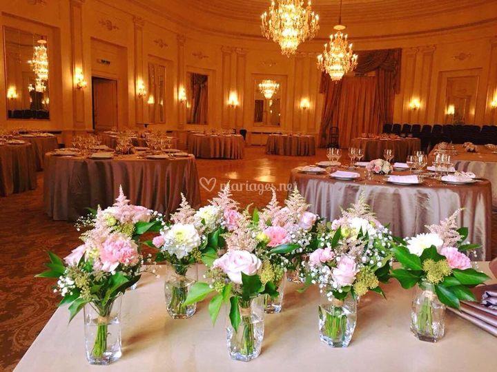 Petits bouquets de tables