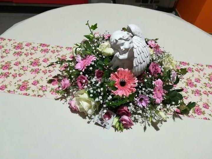 Déco table champêtre romance