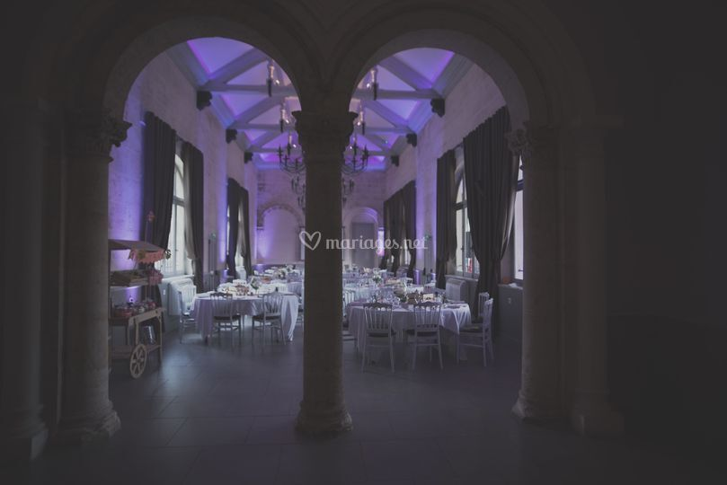 Salle mariage sombre