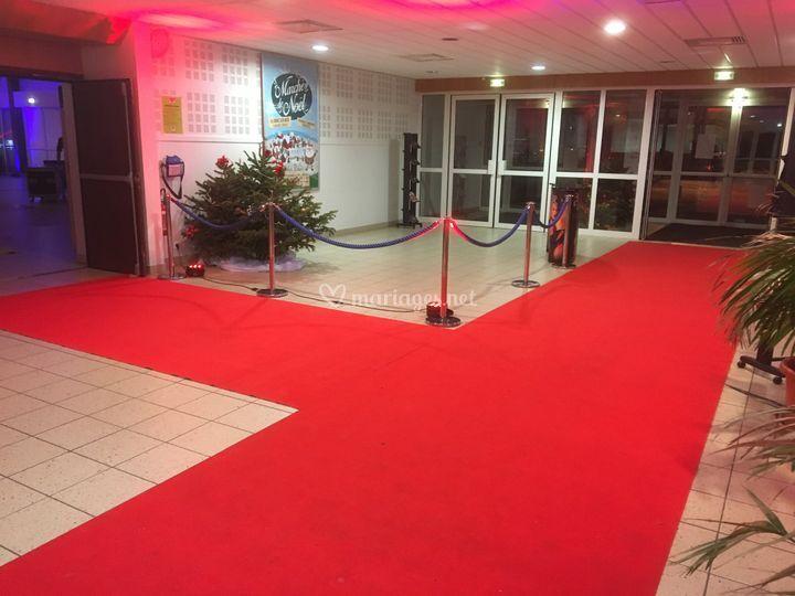 Décor tapis rouge