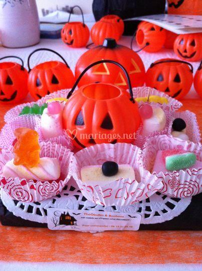 Bar à bonbons Halloween