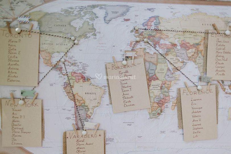 Plan de salle voyage