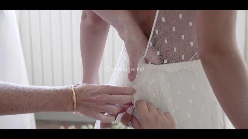Mise de la robe