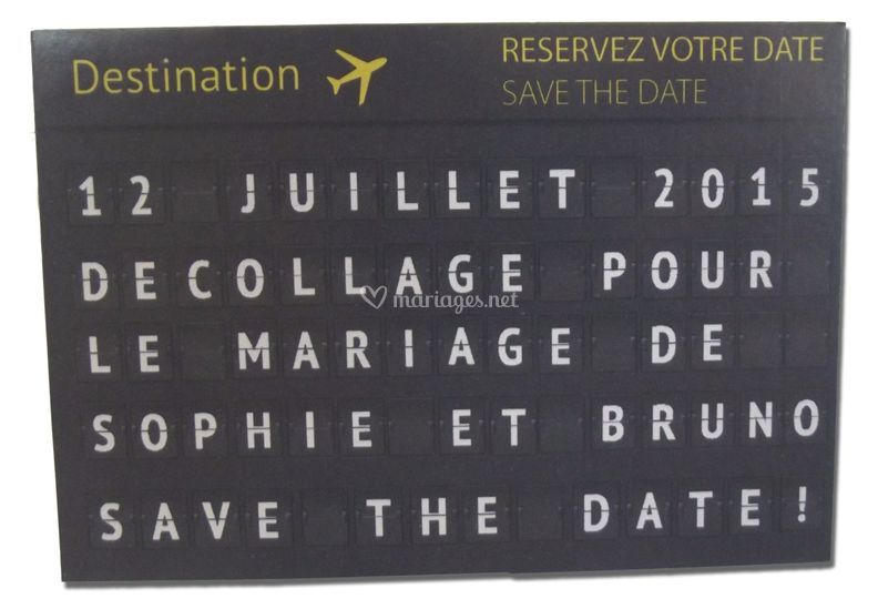 Save te date magnet
