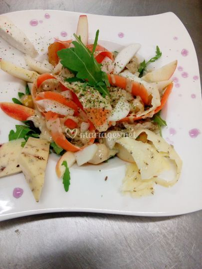 Salade végétarienne aux algues