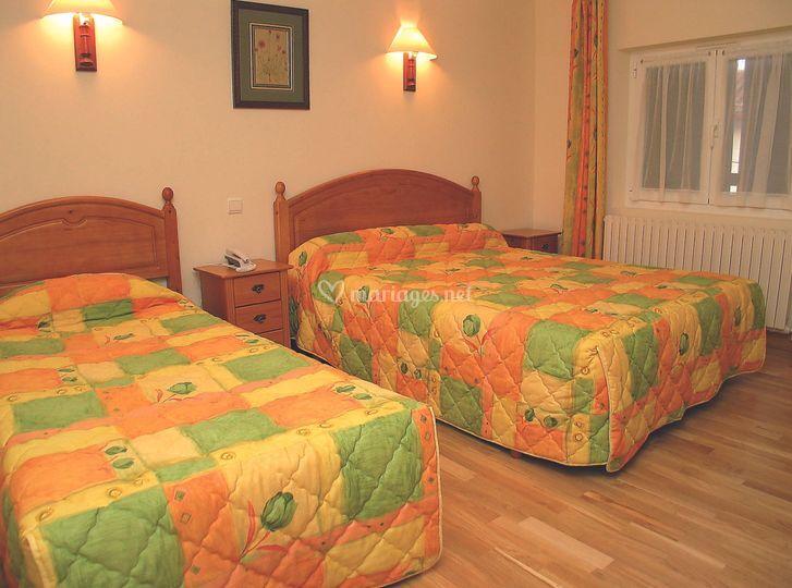11 chambres sur place