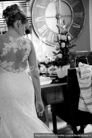 Préparation de notre mariée