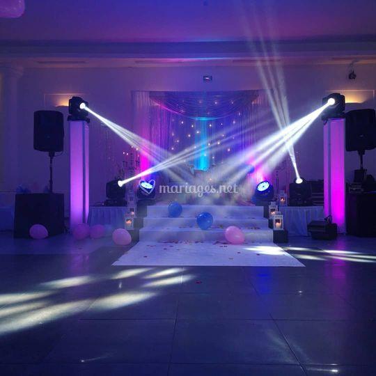Lumière piste de danse