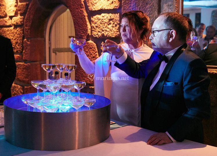 Premier verre de champagne