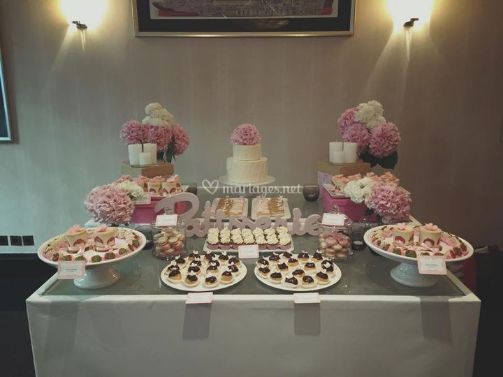 Sweet Table Rose et Gourmande