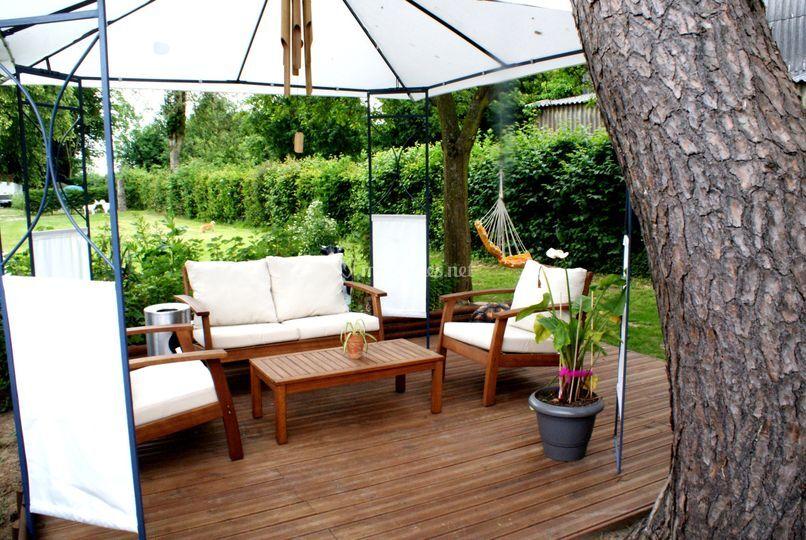Une terrasse ombragée
