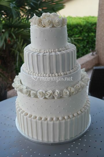 White Cake Wedding