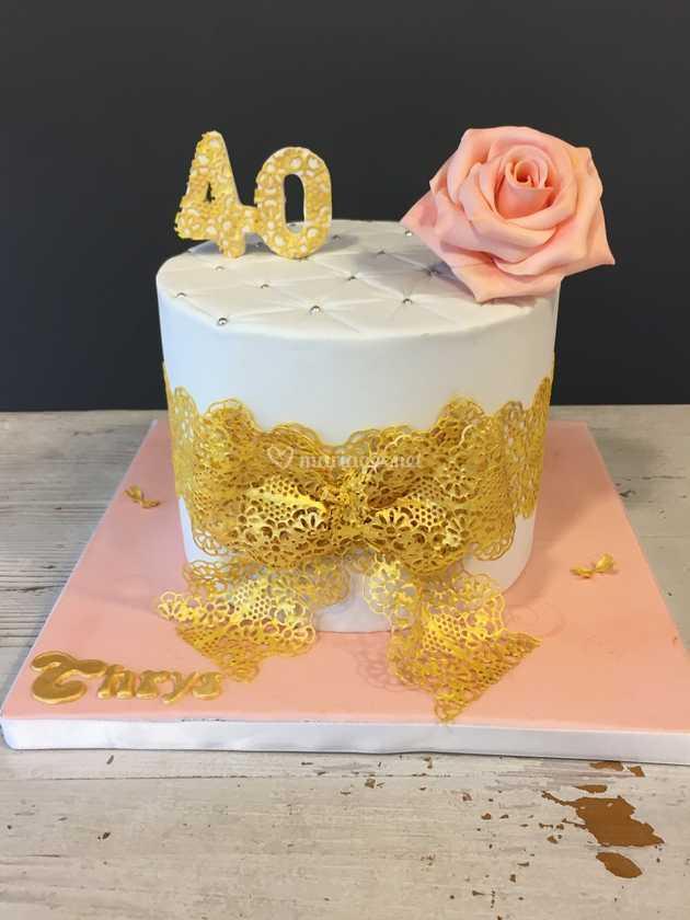 Gâteau 40 Ans De Latelier Pâtissier Alice Ben Photo 22