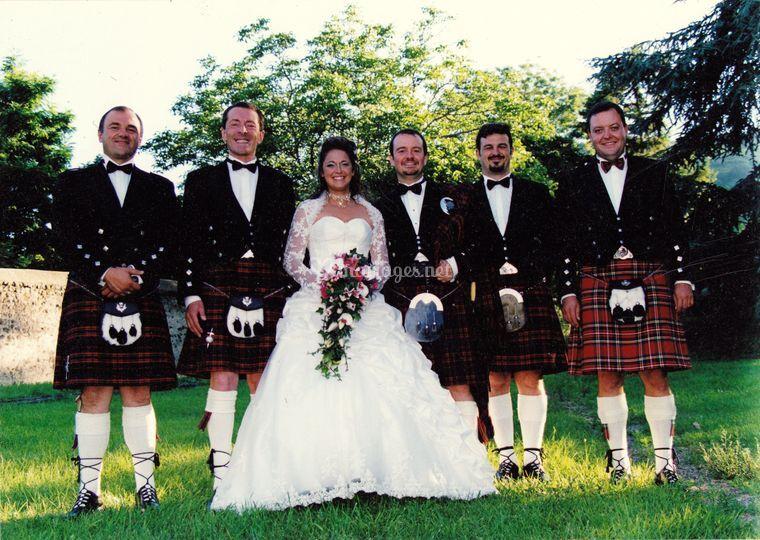 Mariage ecossais en auvergne