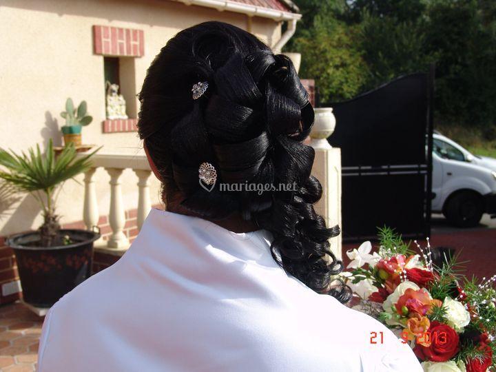 Chignon mariée Vickybeauté