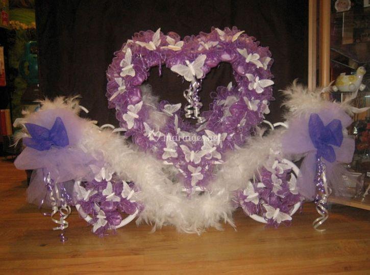 Drageoir mariage violet