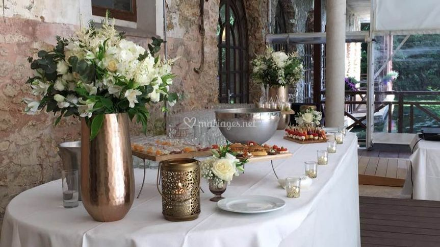 Exemple de buffet de mariage