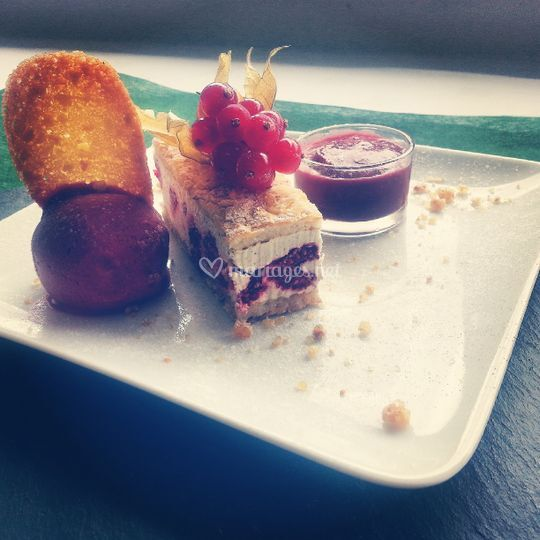 Framboisier & glace & coulis