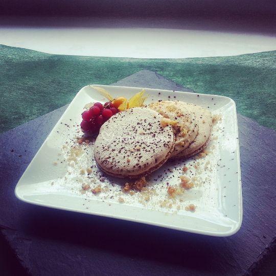 Macaron de foie gras