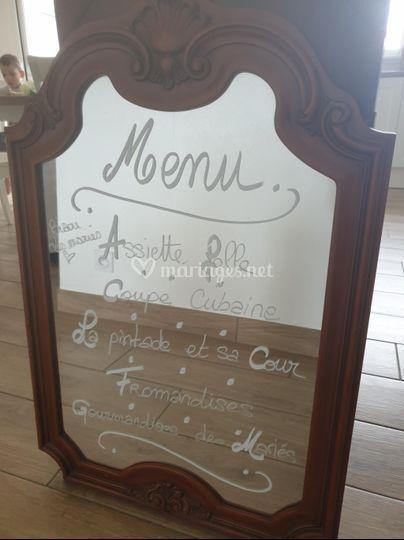 Miroir pour menu
