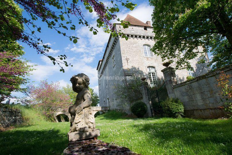 Château de Goudourville : parc