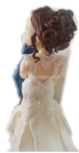 Modelage mariée en pâte à sucr