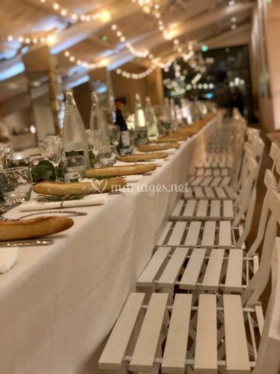 Mise de table - chaises Square