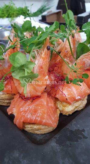 Millefeuille de saumon