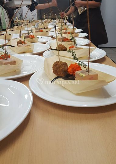 Gondole de foie gras