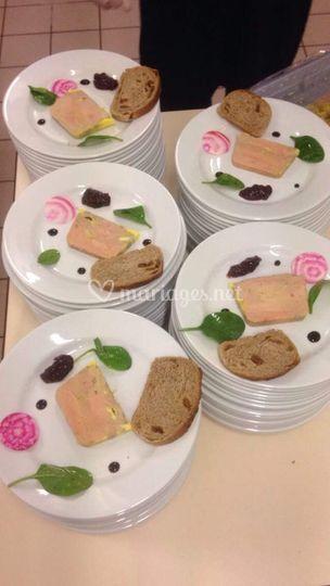 Foie gras à l'assiette