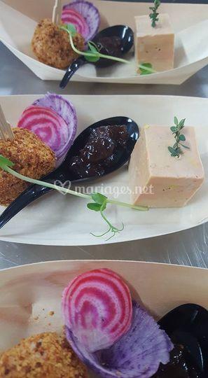 Entrée (gondole de foie gras)